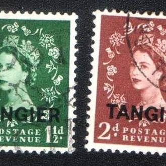 Танжер (1952) Британская почта. Надпечатки