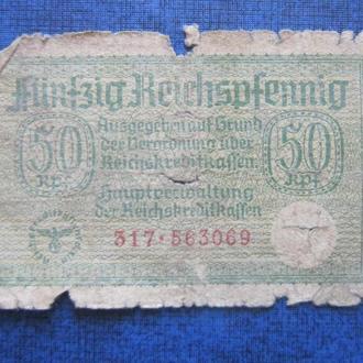 Банкнота 50 пфеннигов Германия 1939-1945 №1