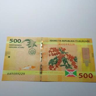 500 франков 2015, Бурунди, Пресс, unc