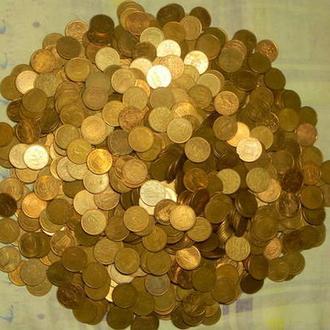 5 євроцентів 1000шт (різні країни) суперлот