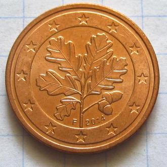 Германия_ 2 евро цента 2014 F оригинал