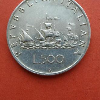 """500 лир 1960 Италия """"Колумб"""""""