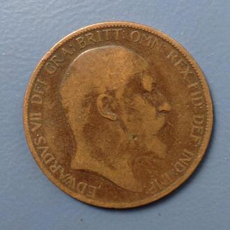Великобритания, 1 penny 1902 год