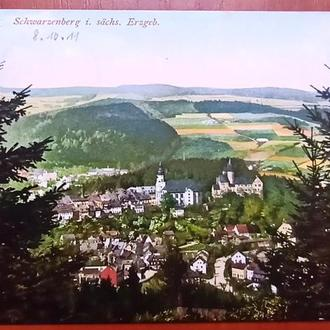 Открытка-Германия,Шварценберг панорама 1911 год