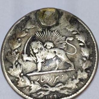 2 кран или 2000 динар, 1858? года, Персия, Иран, серебро, оригинал, дукач редкая!