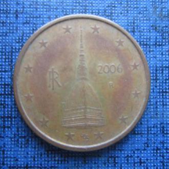 монета 2 евроцента Италия 2006