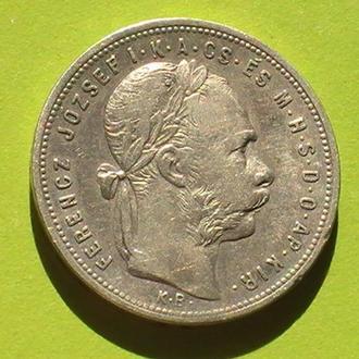 1 Форинт 1881 г КВ Австро-Венгрия Серебро 1 Форінт 1881 р Австро-Угорщина Срібло 1 Гульден