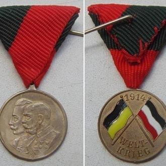 медаль ПМВ (миниатюра). Австро-Венгрия. / диаметр 16мм