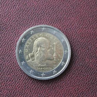 Италия. 2 евро. 2014г.