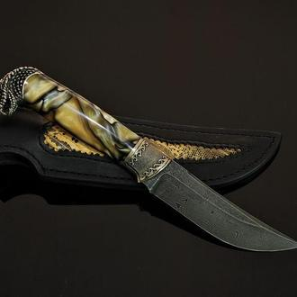 """Авторский нож ручной работы """"Гремучая змея"""""""