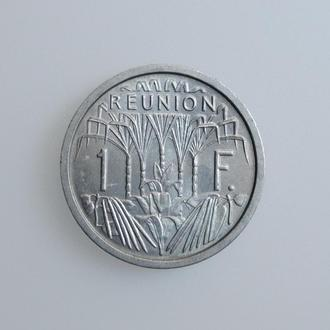 "Реюньон 1 франк 1964 г., BU, ""Заморский департамент Франции (1945 - 1973)"""