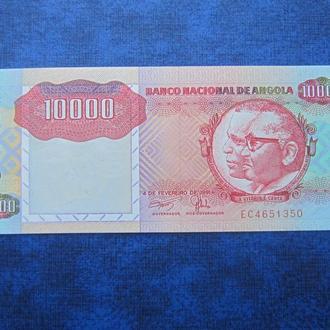 банкнота 10000 кванза Ангола 1991 UNC пресс КЦ 90 $