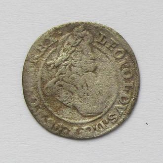 1 крейцер 1702г. Леопольд I Габсбург,  Силезия
