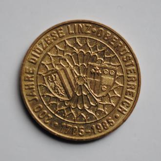 Австрия 20 шиллингов 1993 г., UNC, '200 лет Епархии в Линце'