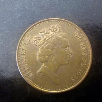 2 пенса (1995) Великобритания.