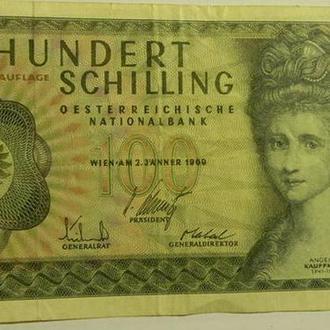 100 шиллингов 1969 Австрия