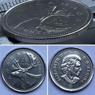 Канада 25 центов, 2007г. Период Королева Елизавета II (1953 - 2018)