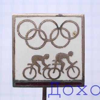 Значок Олимпиада Велоспорт на иголке тяжелый спорт