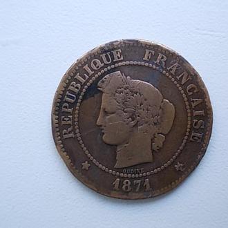 5 сантимов франц. 1871г.