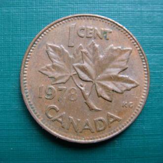 Канада 1 цент 1978