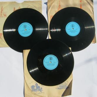 Пластинка патефонная.Пластинка 78 об.Пластинка для радиол.1шт. 60 годы СССР№6