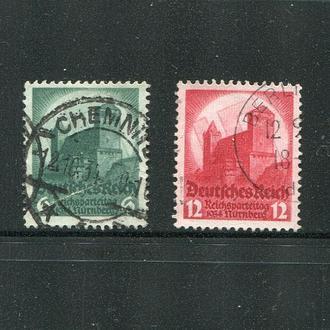 ГЕРМАНИЯ 1934 РЕЙХ АРХИТЕКТУРА ЗАМОК ЧЕТКОЕ ГАШЕНИЕ