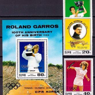 ЛОИ  Корея  1985 г  MNH -  4 блока и 4 марки