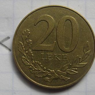 АЛБАНИЯ. 20 леков 2000 г. (АНТИЧНЫЙ КОРАБЛЬ).