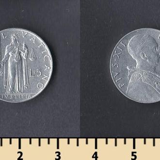 Ватикан 5 лир 1952