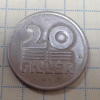 ВЕНГРИЯ, 20 филлеров 1986
