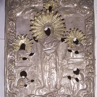 Покров Пресвятой Богородицы, оклад, Россия, 1840-ые