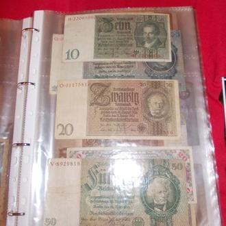 Листи для банкнот на 3 яч. 40мкм