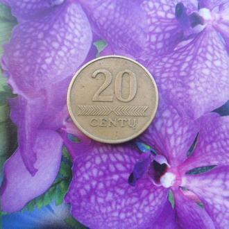 Литва 20центов 1997г