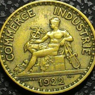 Франция 1 франк 1922 год ОТЛИЧНЫЙ СОХРАН!!!!