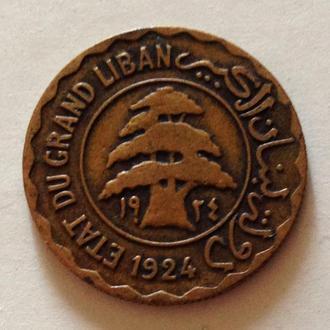 2 сирийских пиастра, 1924 г, Ливан