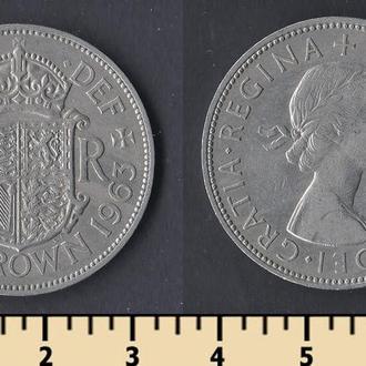 Великобритания 1/2 кроны 1963