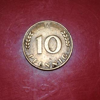 10 пфеннингов 1949J ФРГ