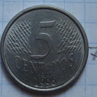 5 сентаво 1996 г., БРАЗИЛИЯ.