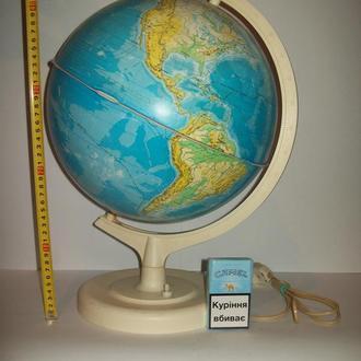 Глобус про-во СССР с подсветкой