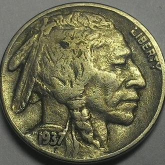 США 5 центов 1937 год