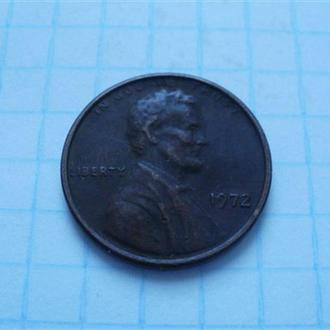 1 цент 1972 года (США).