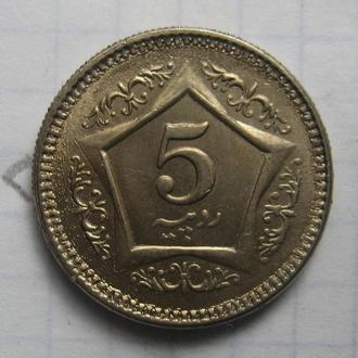 ПАКИСТАН, 5 рупий 2005 года (состояние).