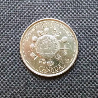 Канада 25 центов 2000 г. (Community)