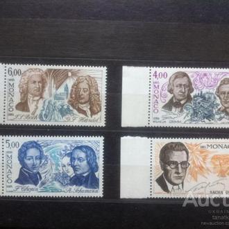 Монако 1985 композиторы музыка кино Михель = 8 евро**