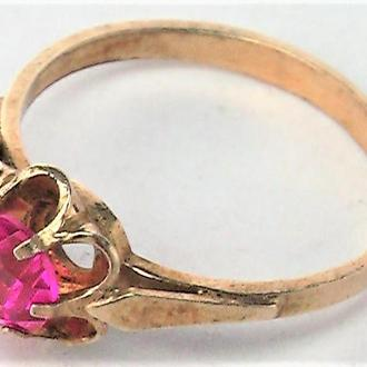 Кольцо перстень серебро 925 проба СССР 18,5 размер 1,98 гр. лот 2