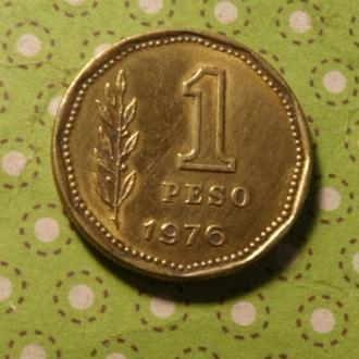 Аргентина 1976 год монета 1 песо !