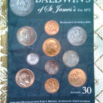 """Каталог монет (Эдуард VII) """"BALDWIN'S of St James's"""", 2019 г."""