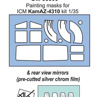Danmodel 35805 -маска для модели Камаз  ( ICM 35001 ) + зеркала заднего вида АKhobby - 1/35