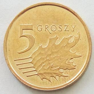 (А) Польша 5 грошей 2018