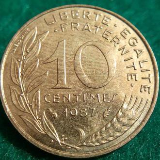 Франция 10 сантимов 1987 (1)